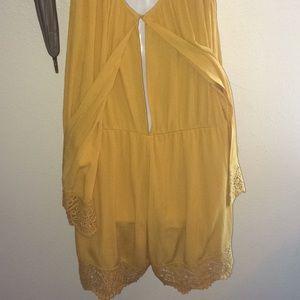 H&M Dresses - Mustard shorts romper
